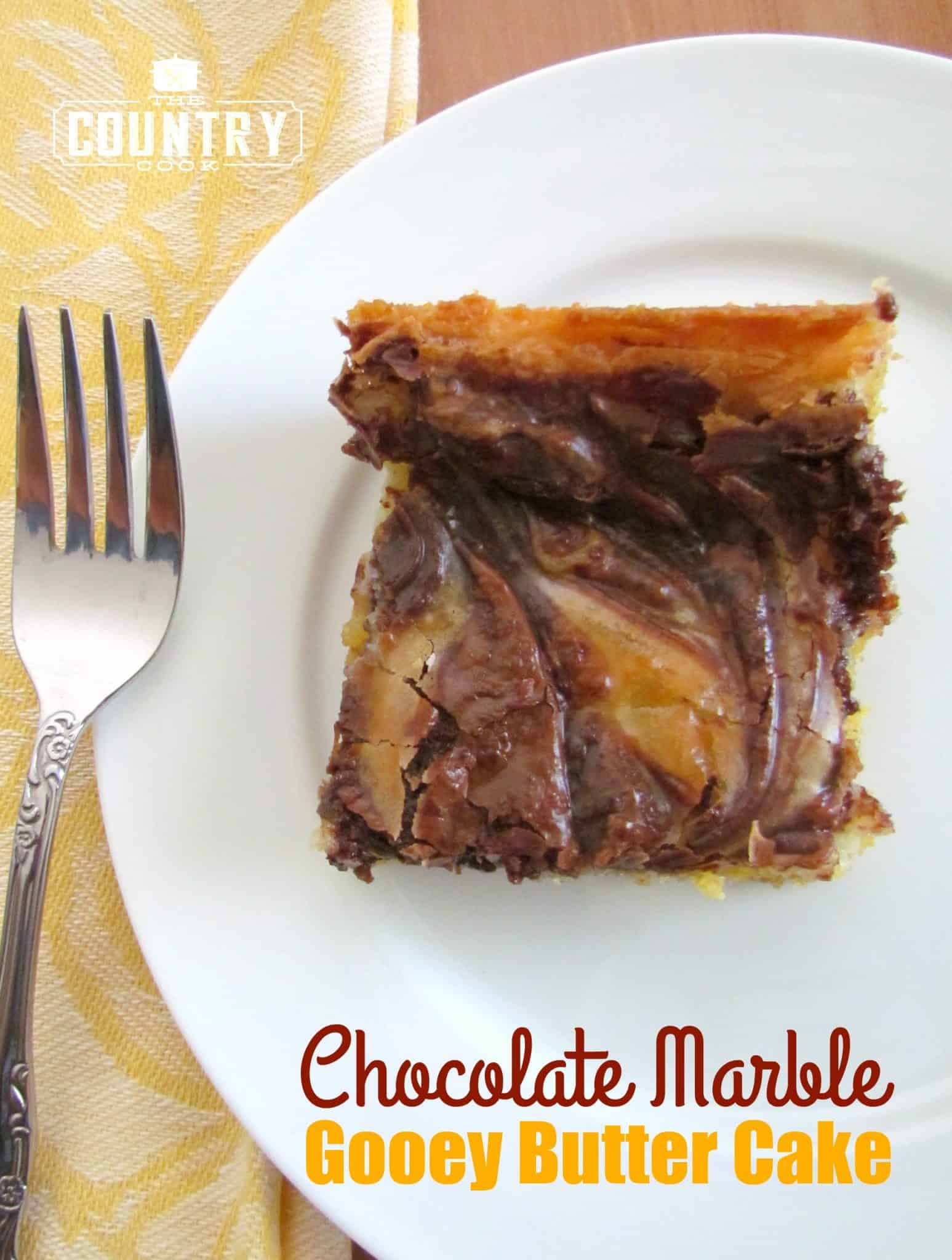 Chocolate Marble Gooey Butter Cake The Country Cook