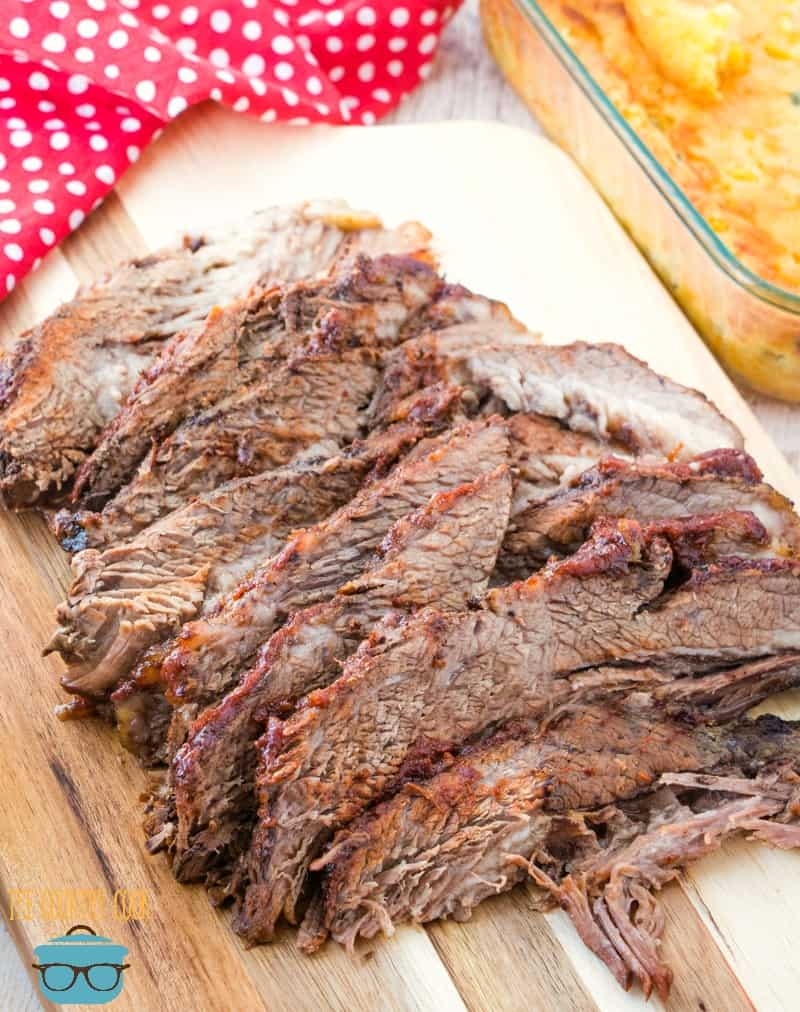 Slow Cooker Beef Brisket with homemade BBQ sauce recipe