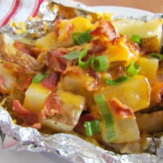 Cheddar Bacon Potato Foil Campfire Packets