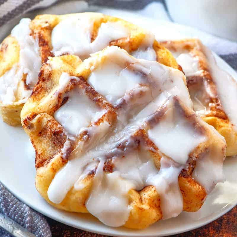 Easy Mini Cinnamon Roll Waffle recipe