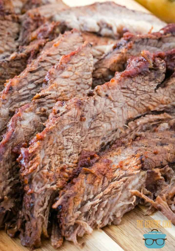 Crock Pot BBQ Beef Brisket, sliced