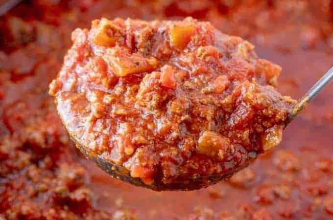 Super Simple Beefy Spaghetti Sauce
