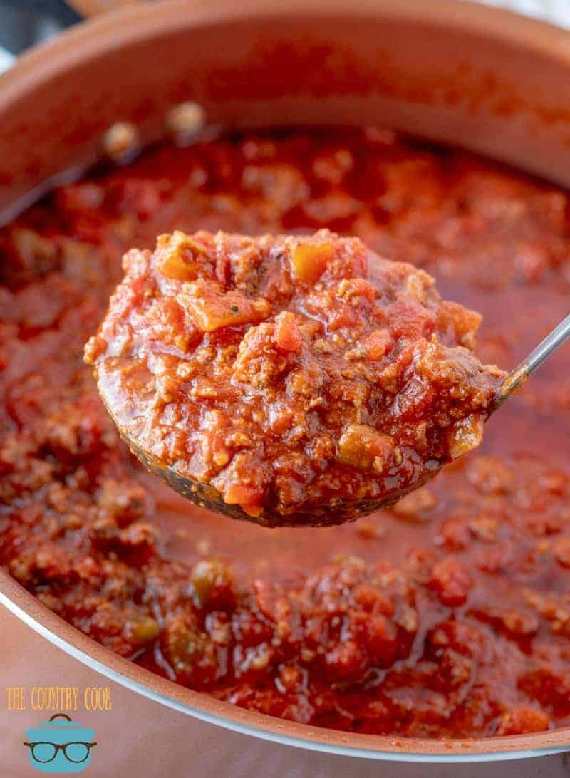 Homemade Beefy Spaghetti Sauce Video