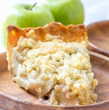 Easy Homemade Butter Crumble Apple Pie recipe