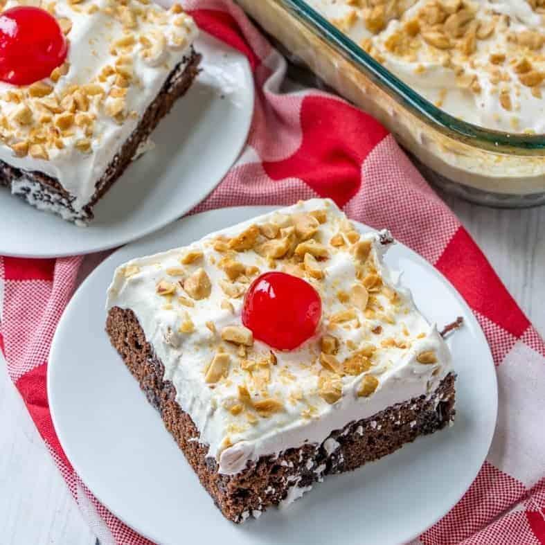 Easy Caramel Brownie Cake recipe