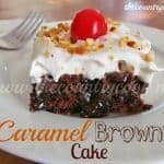 Caramel Brownie Cake