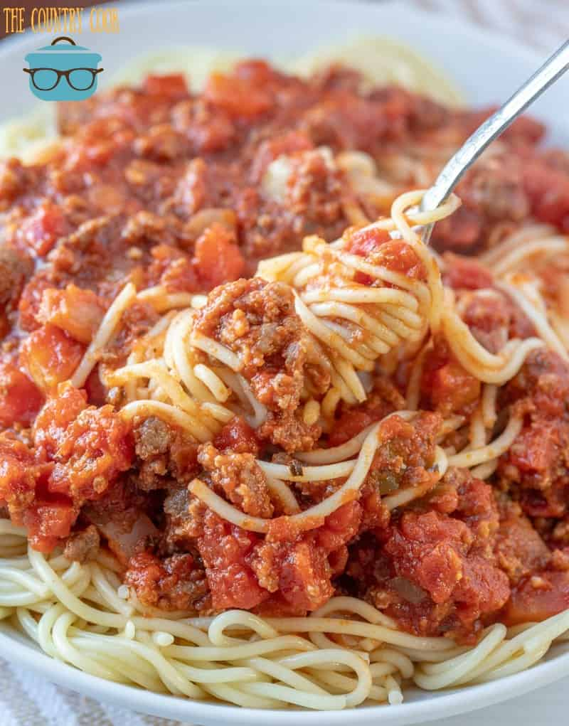 Homemade Beefy Spaghetti Sauce Video The Country Cook