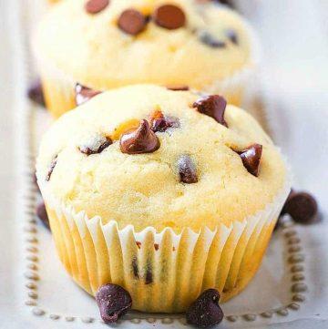Homemade Milk Chocolate Chip Muffins