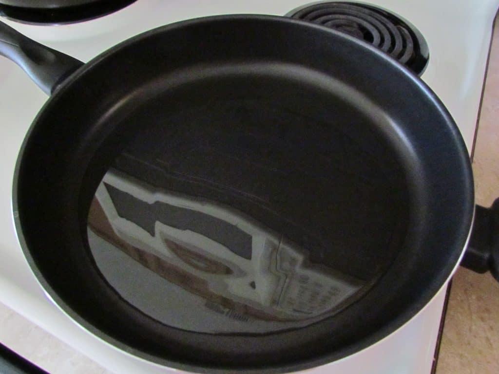 oil in pan or wok