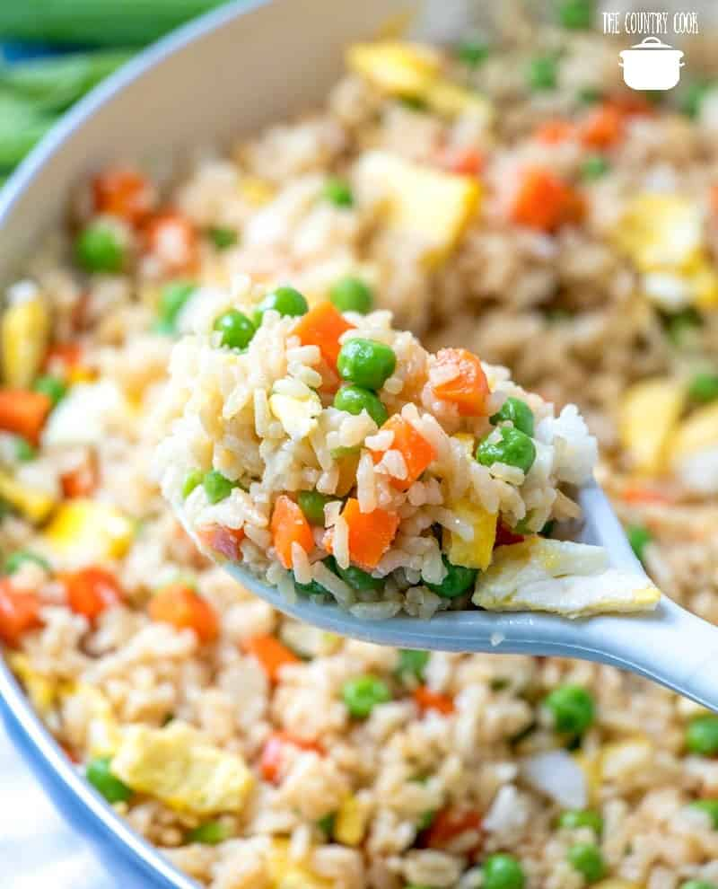 Easy Homemade Vegetable Fried Rice - spoonful