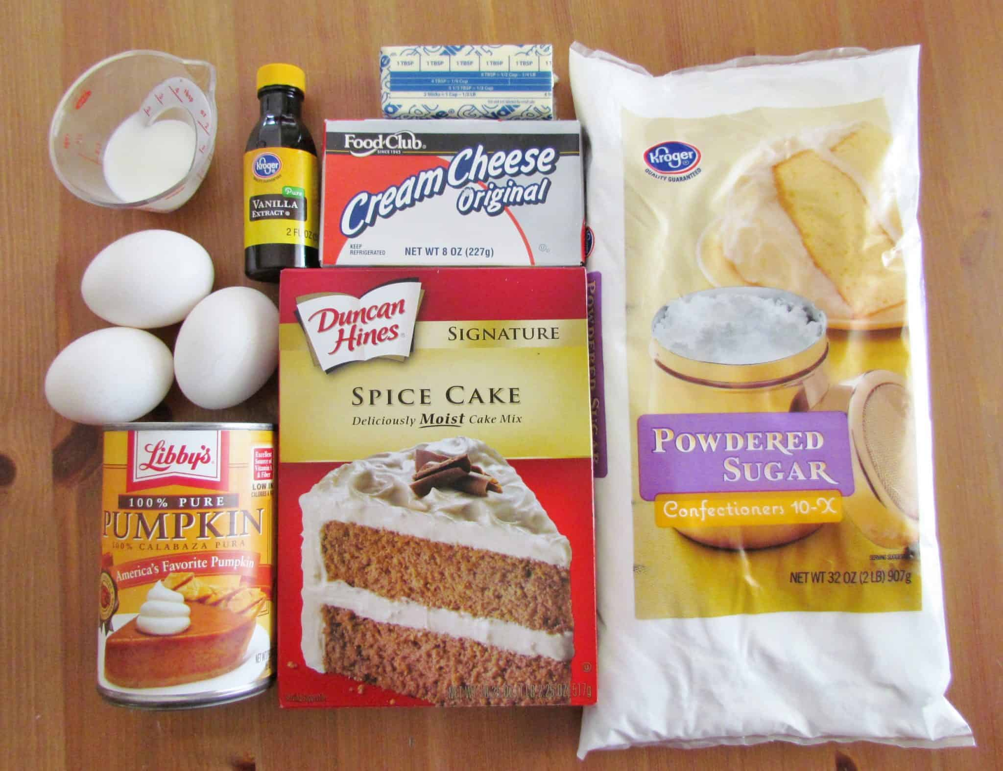 Spice Cake Mix And Pumpkin Pie Filling