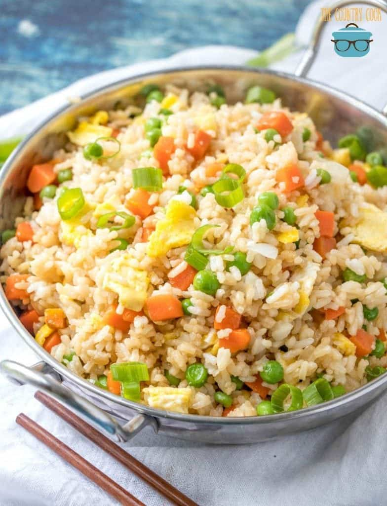 Vegetable Fried rice with chopsticks