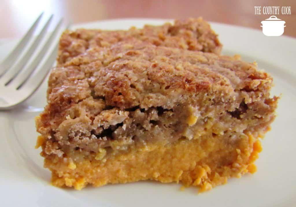 slice, Pumpkin Pie Dump Cake