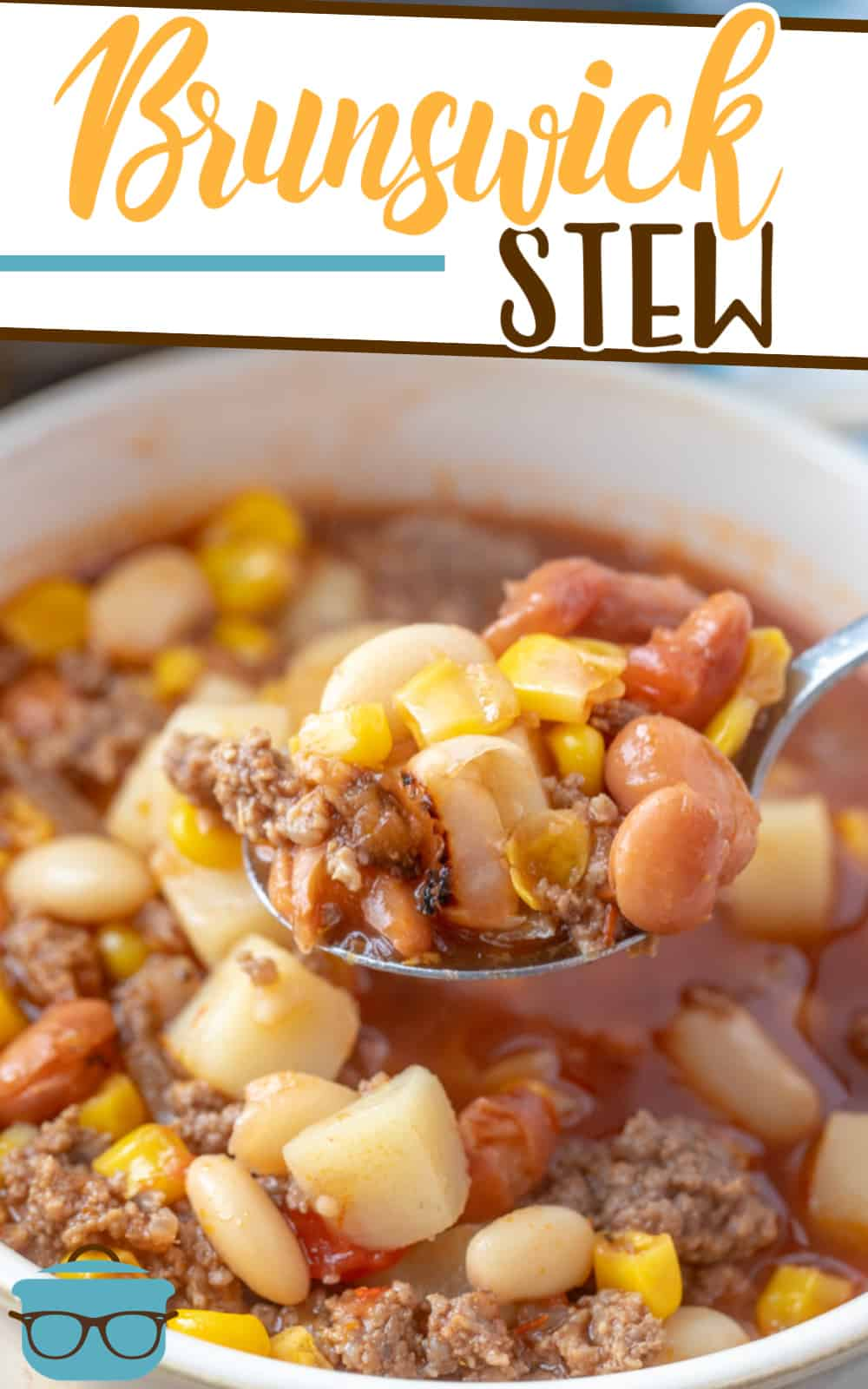The Best Brunswick Stew recipe is a thick barbecue-flavored stew made with ground beef, potatoes, corn, beans and tomatoes.