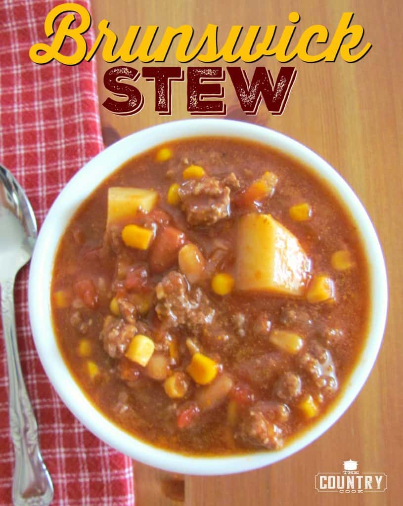Brunswick Stew recipe from The Country Cook