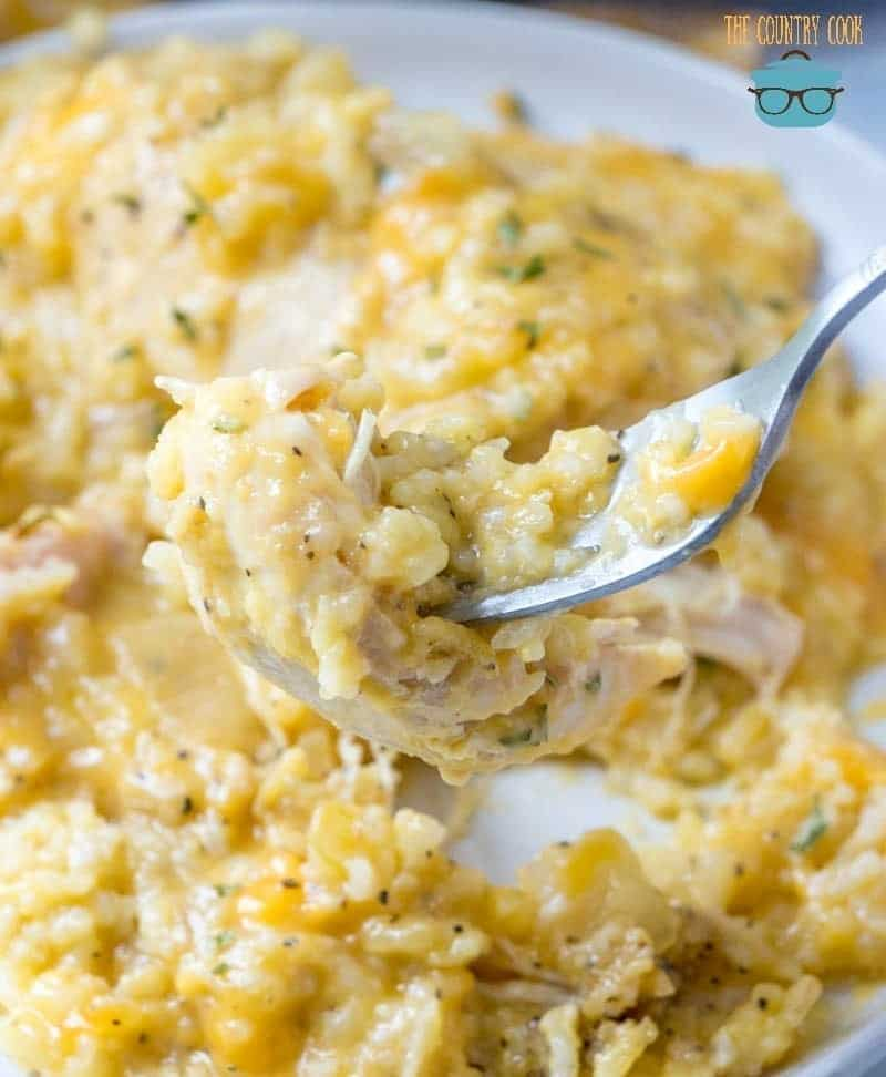 Cheesy, Chicken and Rice in a crock pot