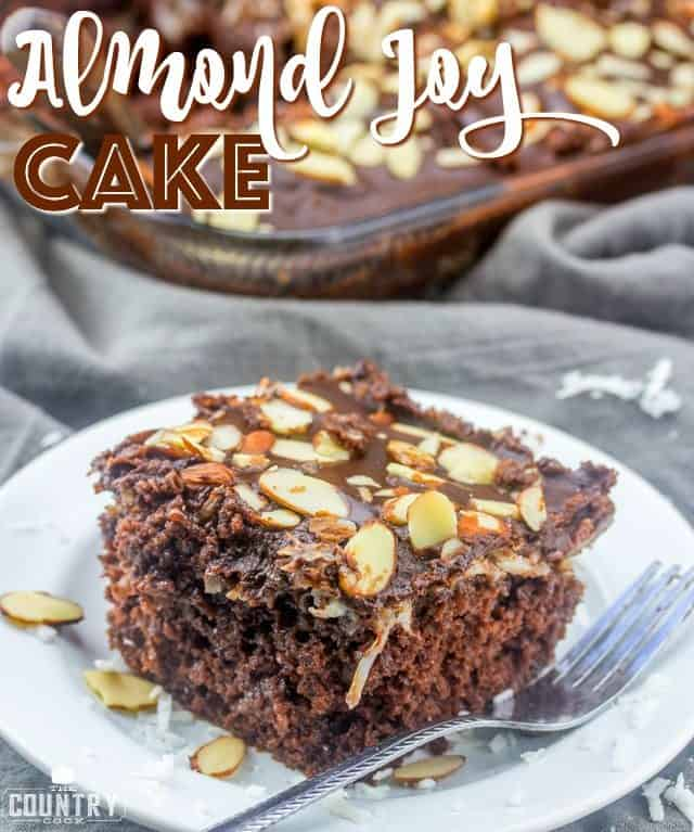 Almond Joy Cake recipe from The Country Cook