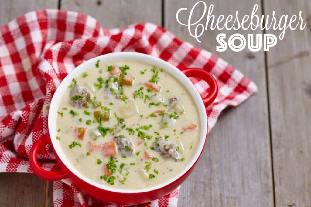 Cheeseburger soup recipe from The Country Cook