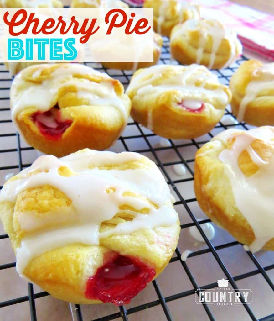 Easy Cherry Pie Bites recipe from The Country Cook