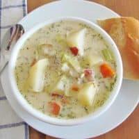 Crock Pot Leek and Potato Soup