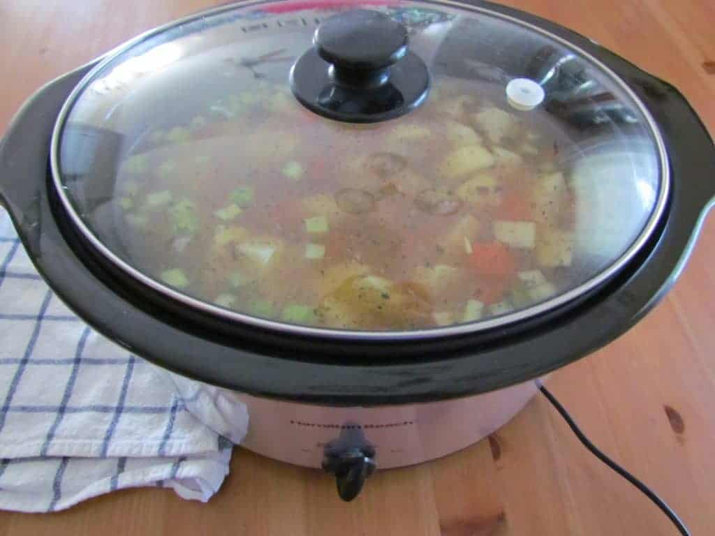 covered Hamilton Beach 6-quart slow cooker