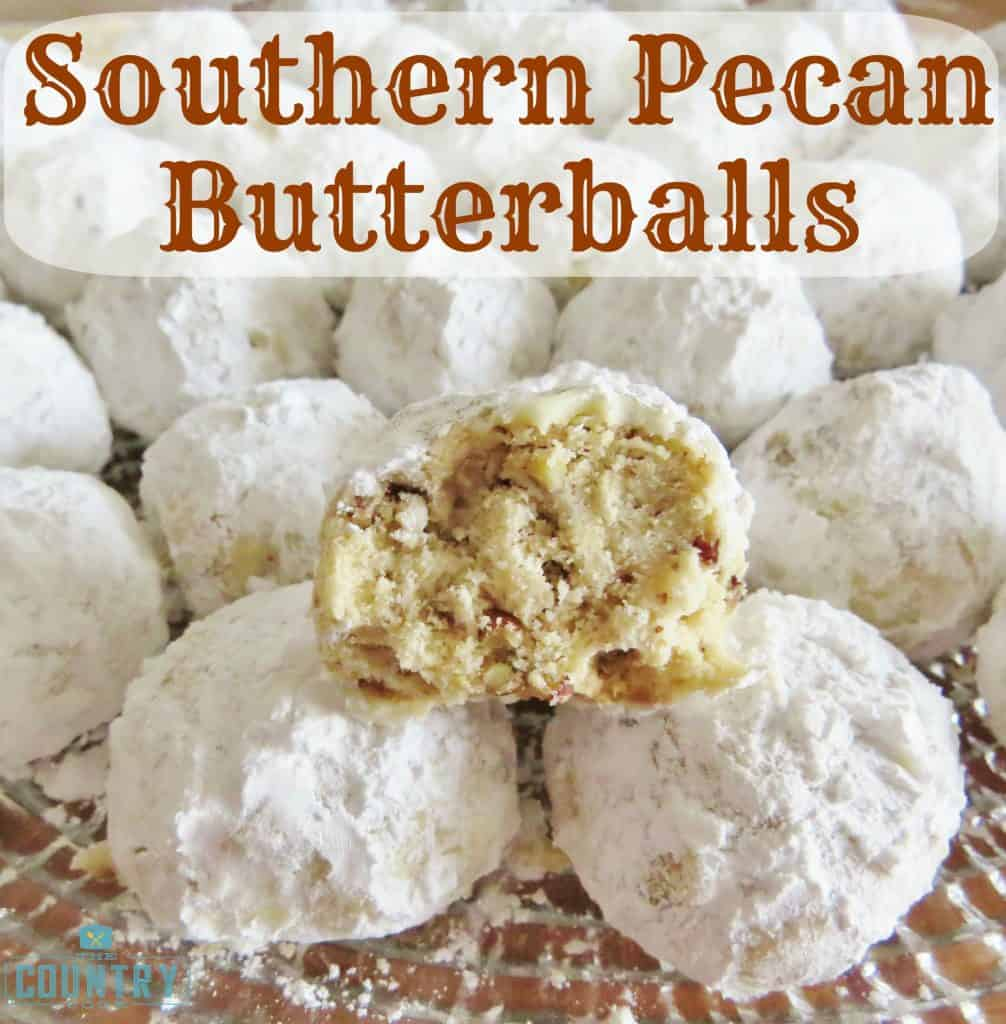 Southern Pecan Butterballs recipe from The Country Cook