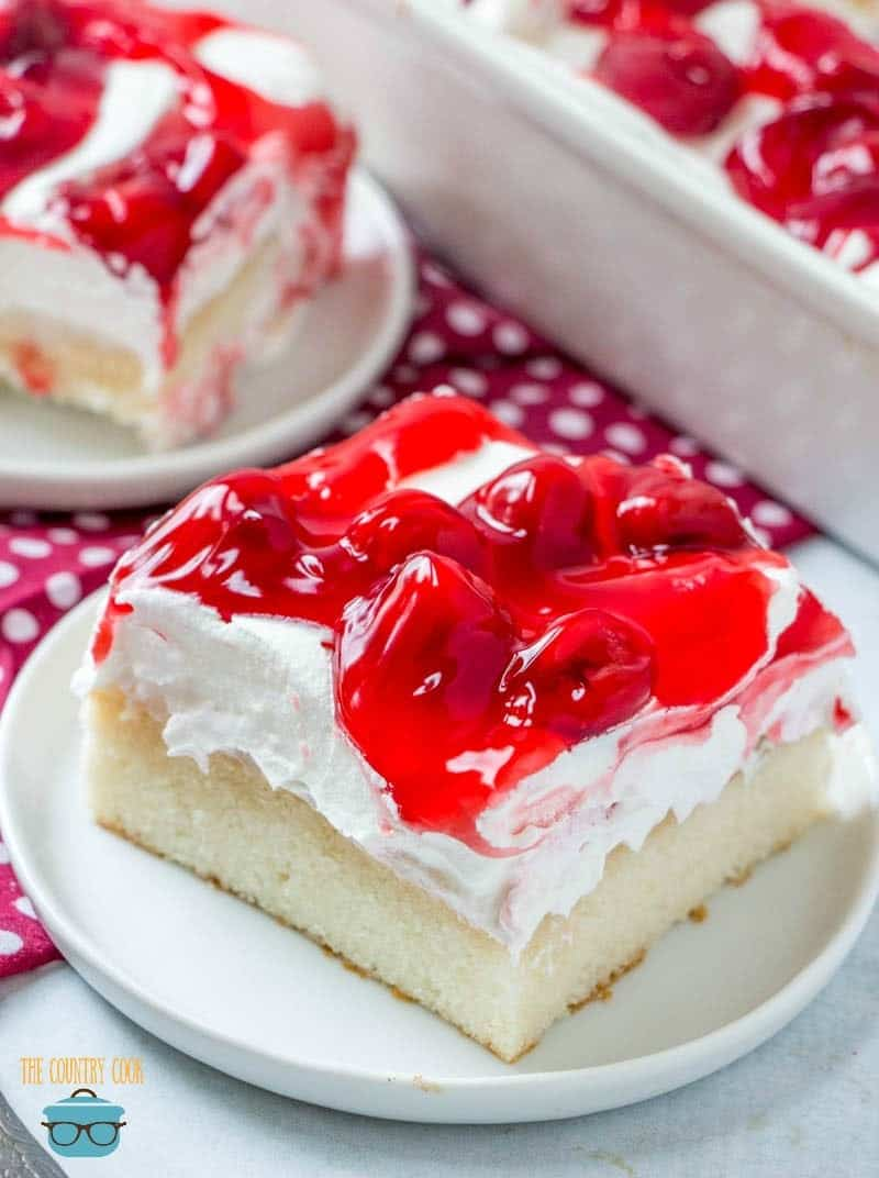 Cherries In The Snow Poke Cake The Country Cook