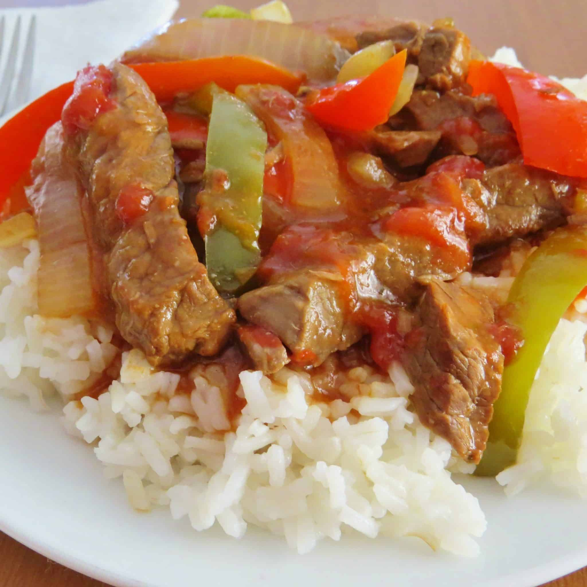 Crock Pot Pepper Steak - The Country Cook