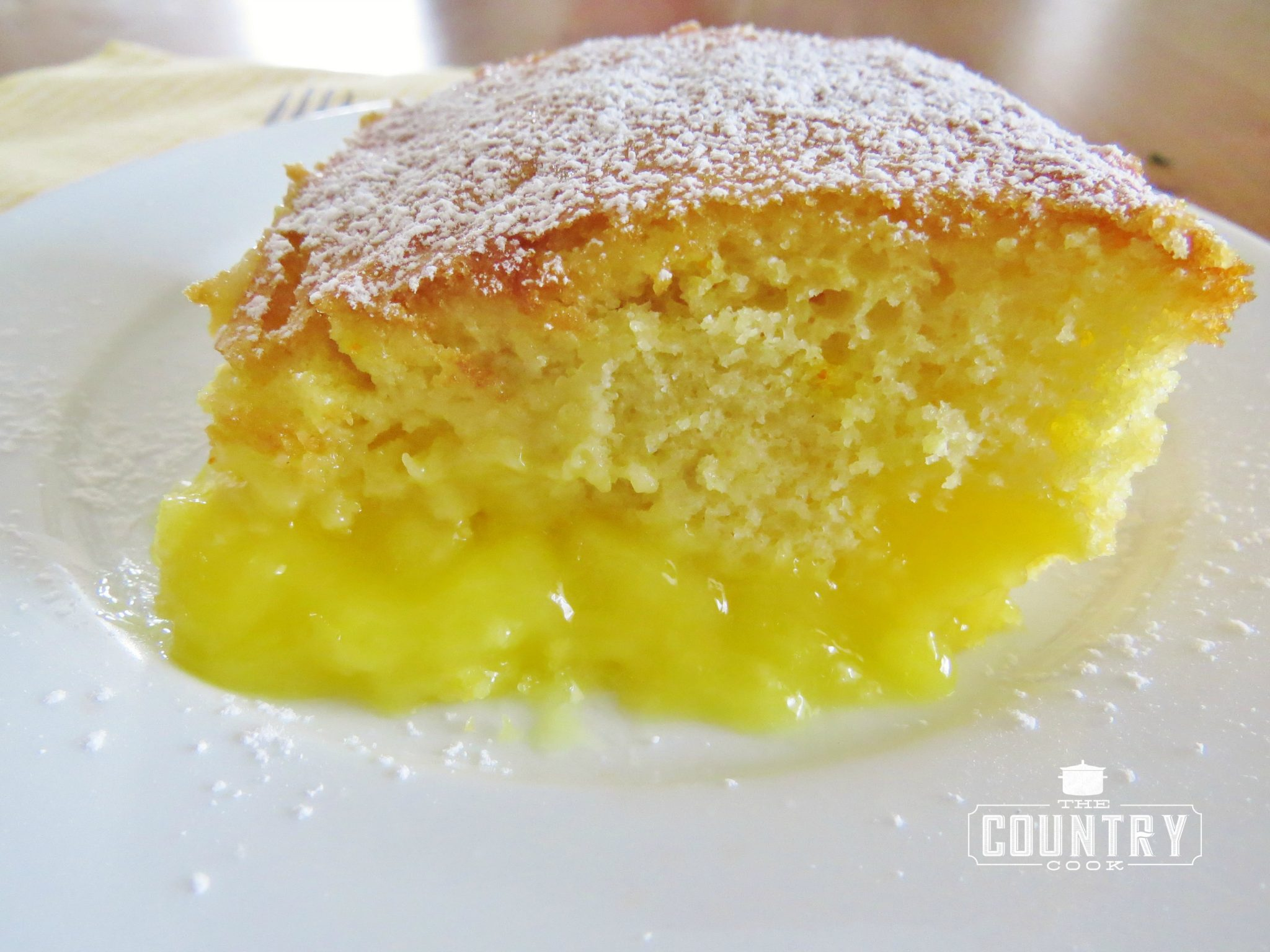 Lemon Box Cake With Pudding