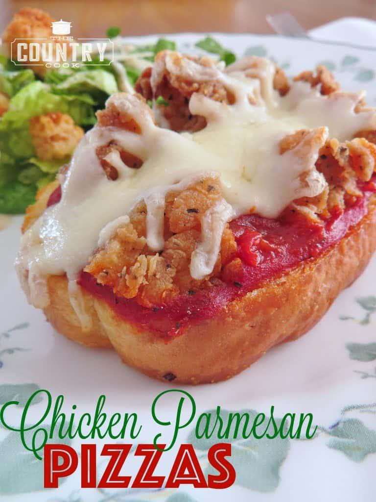Chicken Parmesan Pizzas