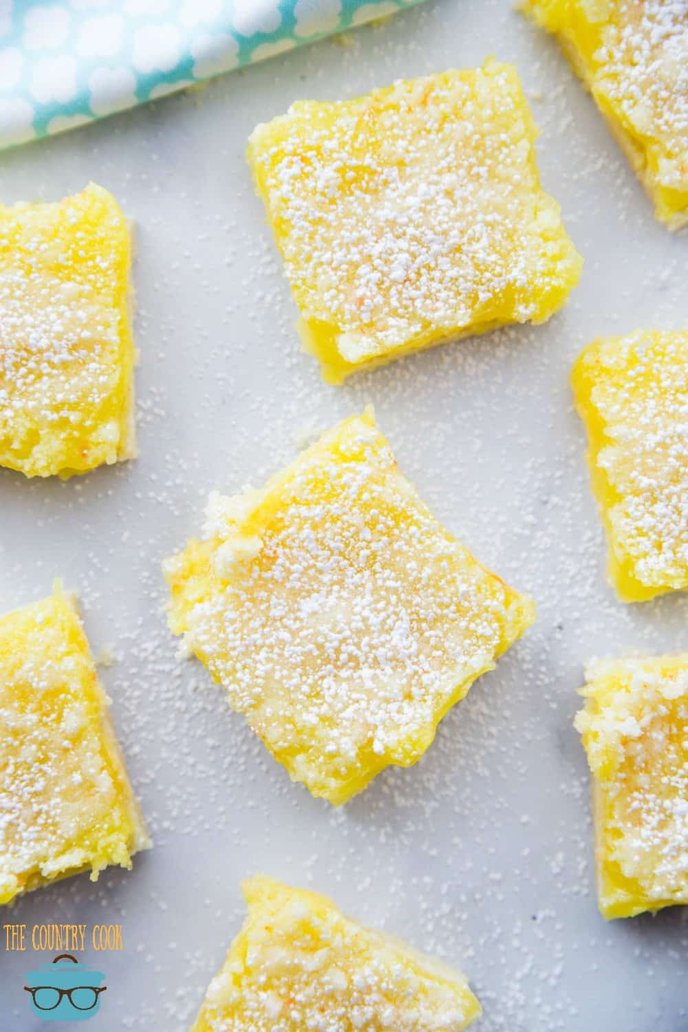 Lemon Bars With Lemon Pie Filling And Cake Mix