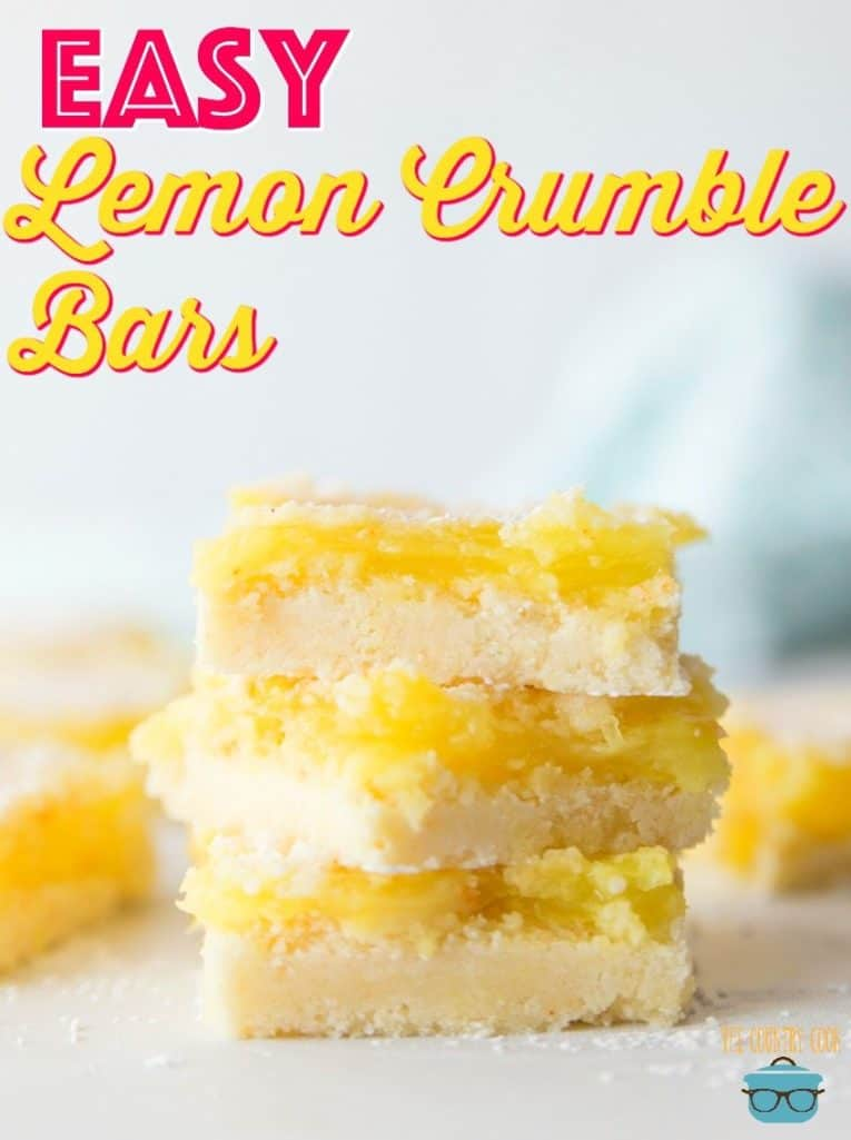 Easy Lemon Crumble Bars from The Country Cook