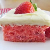 Fresh Strawberry Cake recipe from The Country Cook
