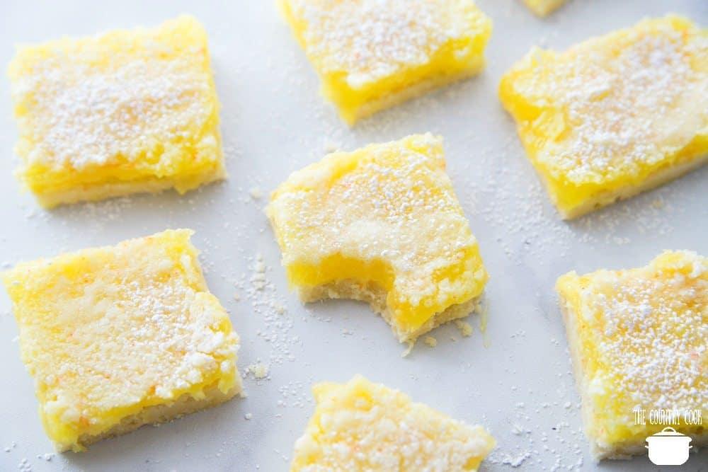 Lemon Bars With Lemon Pie Filling And Yellow Cake Mix