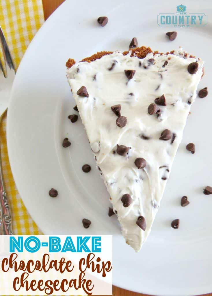 No-Bake Chocolate Chip Cheesecake