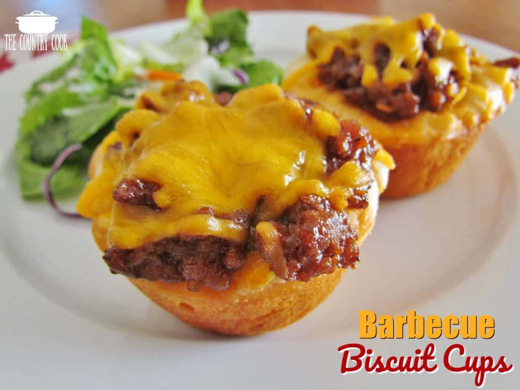 Barbecue Beef Biscuit Cups recipe from The Country Cook