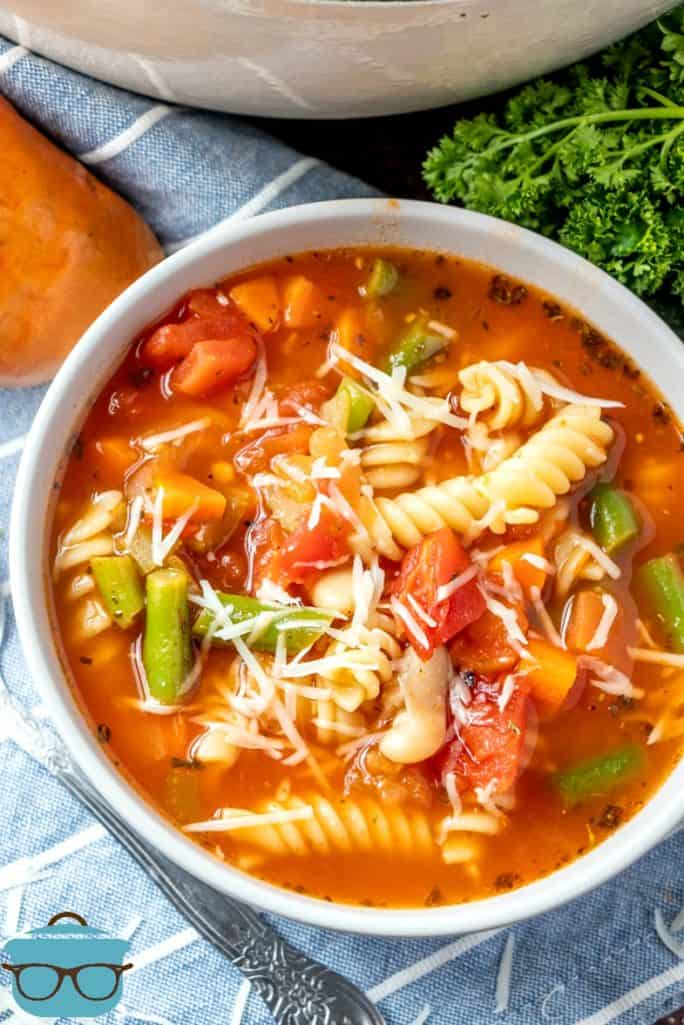 Bowl of Homemade Minestrone Soup