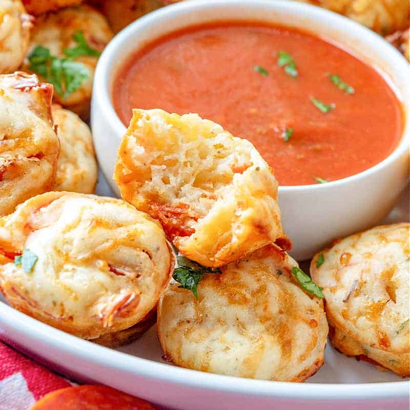Pepperoni Pizza Puffs recipe from The Country Cook