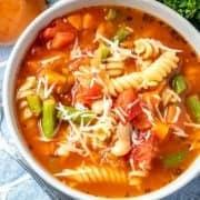 Homemade Minestrone Pasta Soup