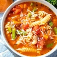 Homemade Minestrone Pasta Soup