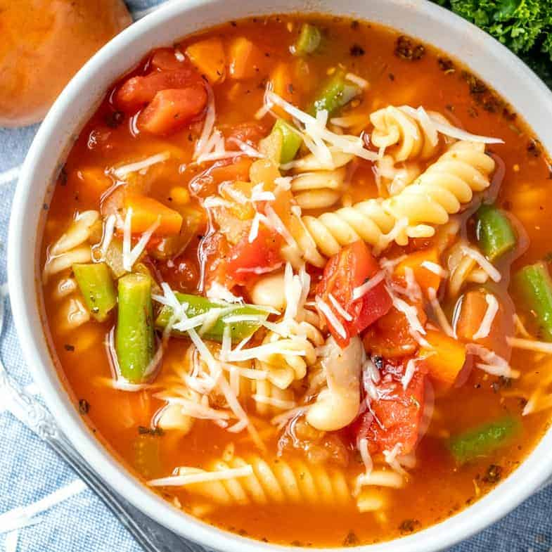 Homemade Minestrone Soup Video The Country Cook