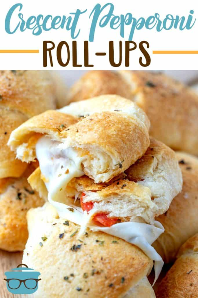 Crescent Pepperoni Roll Ups recipe from The Country Cook