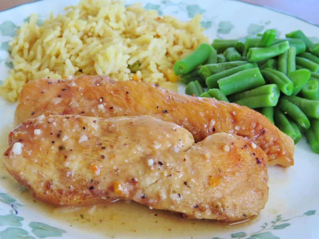 Low Carb Crock Pot Lemon Garlic Chicken
