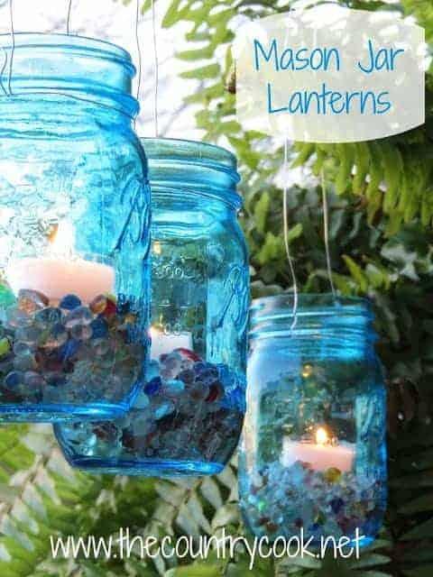 mason jar lanterns the country cook. Black Bedroom Furniture Sets. Home Design Ideas