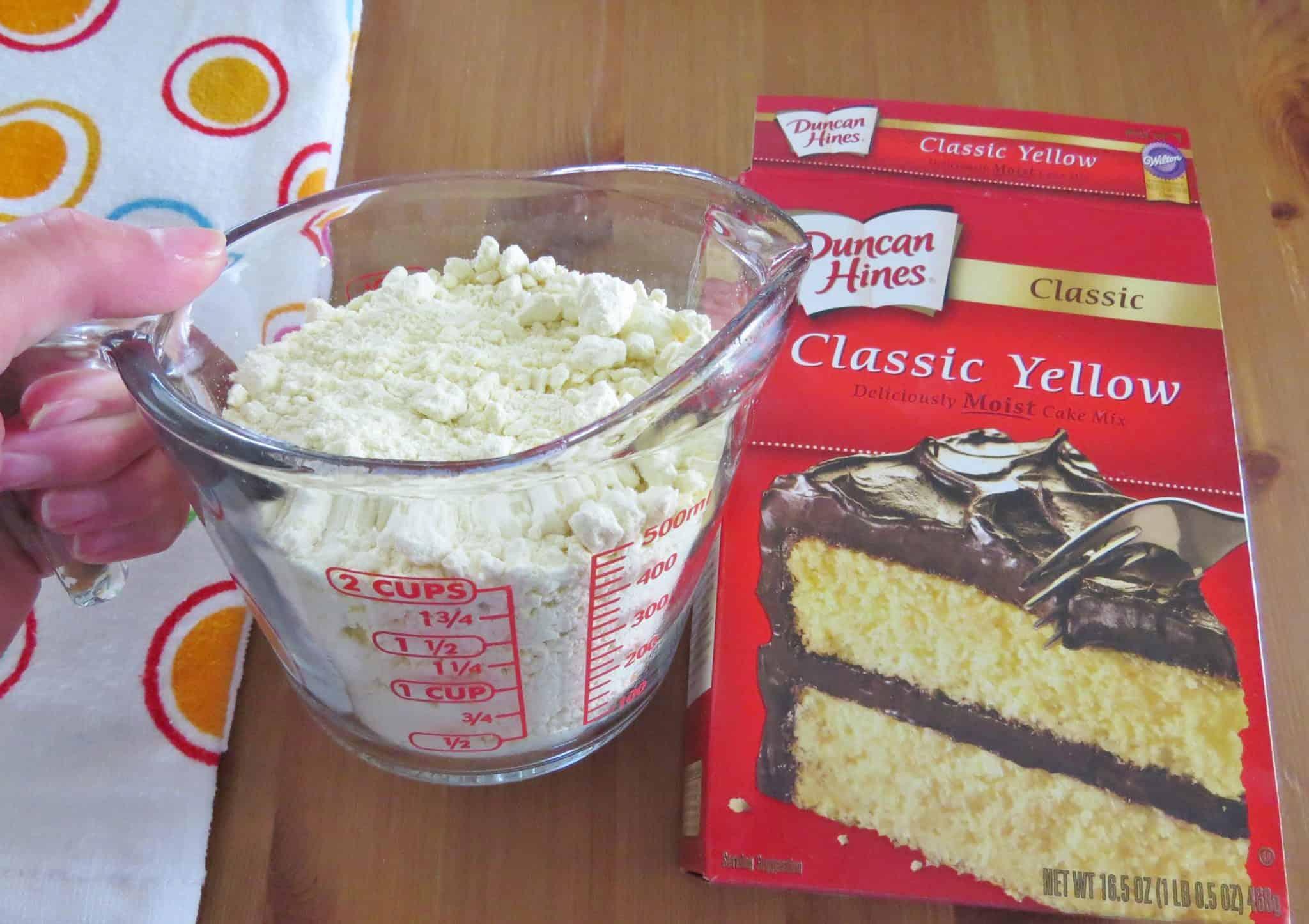 Add Peach Pie Filling To Cake Mix