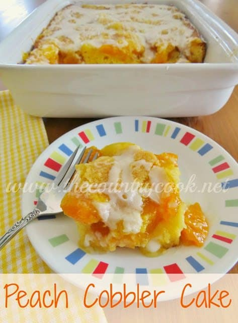 Peach Cobbler Cake The Country Cook