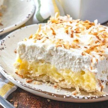 Easy Coconut Cream Pie Bars recipe
