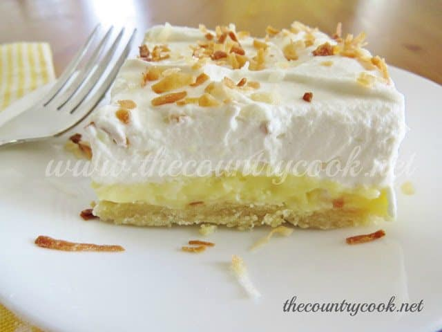 Coconut Cream Pie Bars - The Country Cook