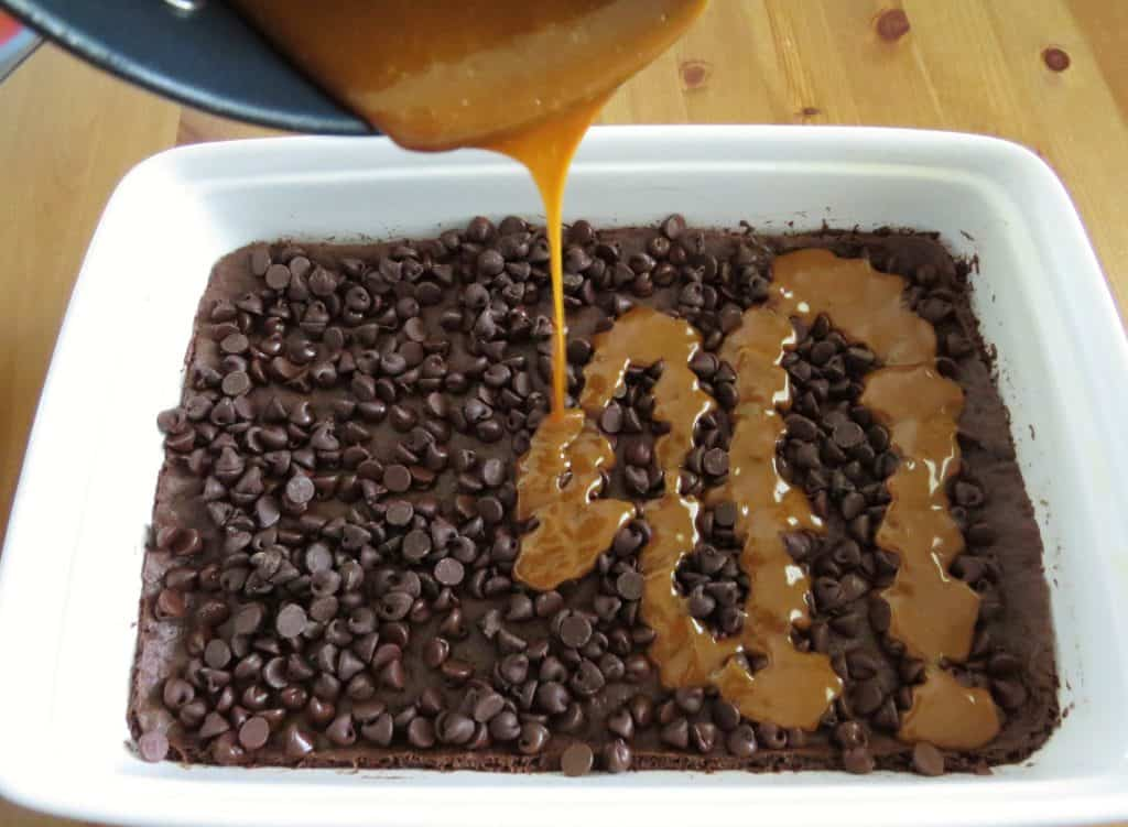 Gooey Chocolate Caramel Brownies