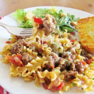 Easy Ground Beef Skillet Lasagna Pasta